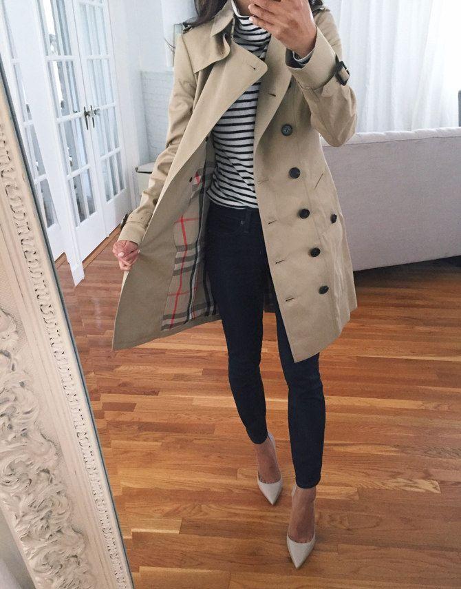Burberry Sandringham Slim Khaki Trench Coat Petite Women In 2020 Khaki Trench Coat Trench Coat Outfit Coat Outfits