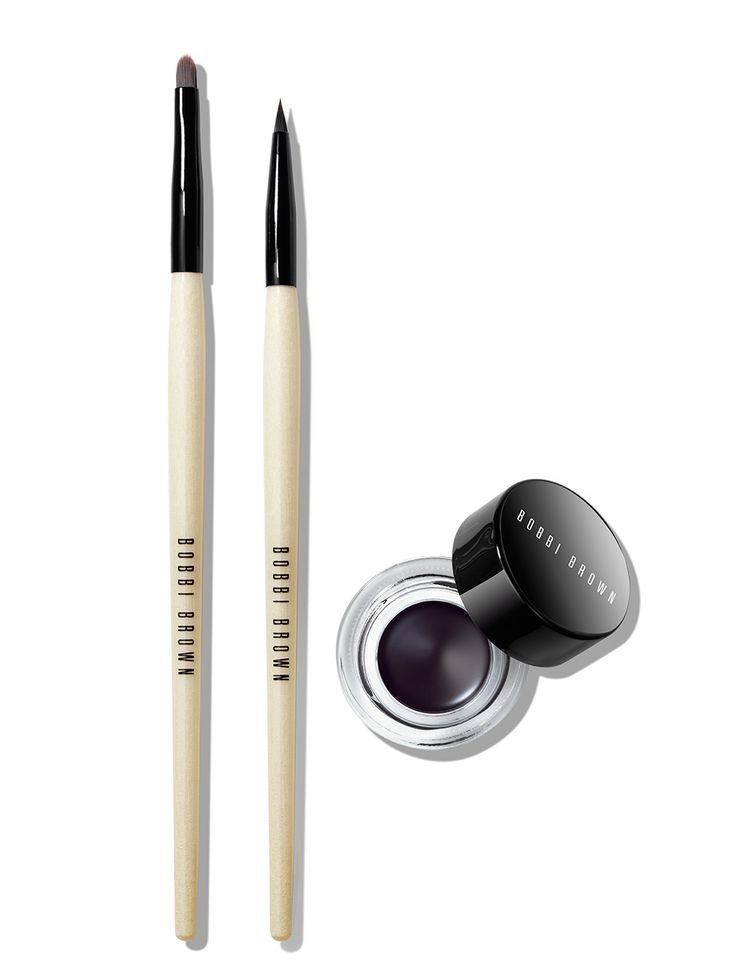 Bobbi Brown Cult Favorite | Long Wear Gel Eyeliner | Eye Makeup | Brush | Application