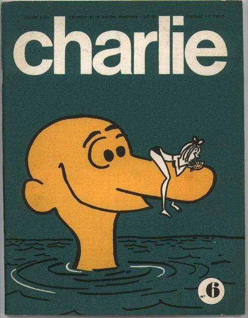 Charlie Mensuel - # 6 - Juillet 1969 - Couverture de Wolinski