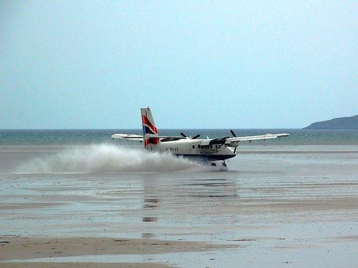 25. Barra International Airport, Scotland...  Uses the Beach as runway