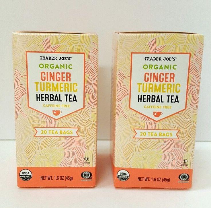 Organic Ginger Turmeric Herbal Tea 40 TBags from Traders Joe   Home & Garden, Food & Beverages, Tea   eBay!