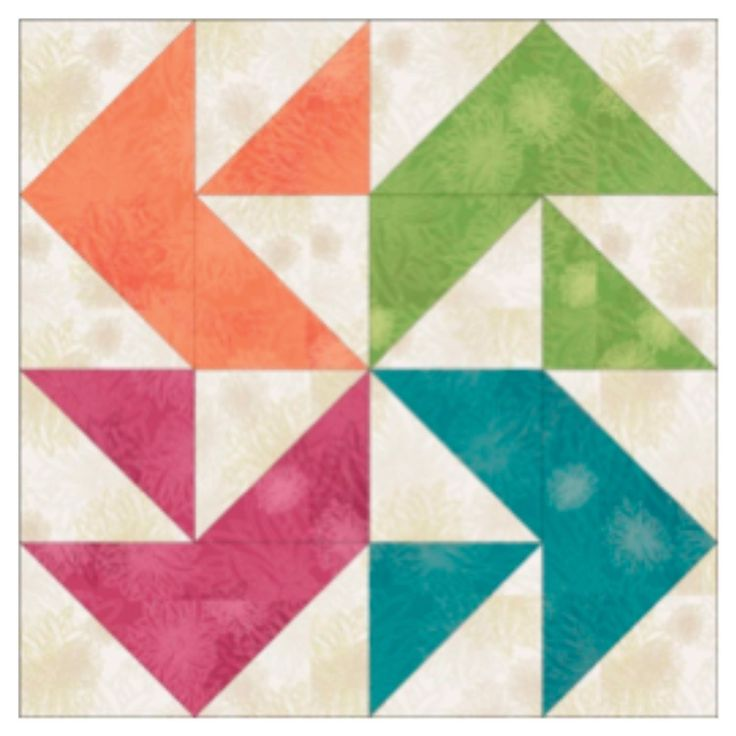 GO! Block #1: Twisted 4-Point Star. Half square triangles