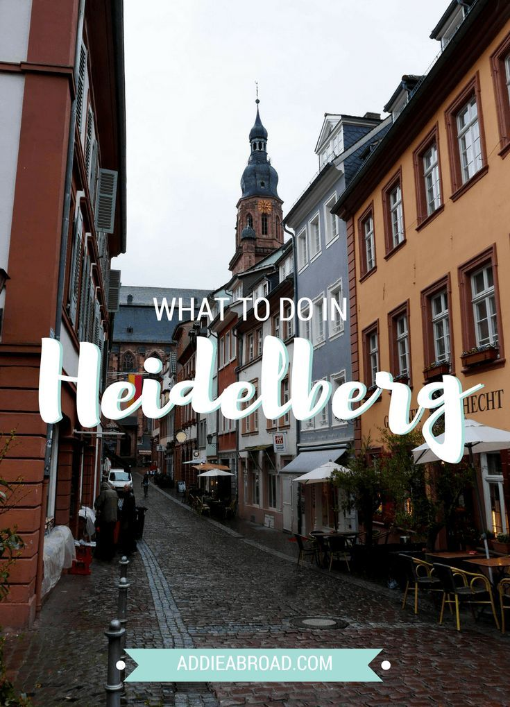 One day in Heidelberg. Heidelberg, Germany is renowned for the beautiful ruins of Heidelberg Castle. Whether you're visiting the castle or wandering around the Altstadt (old town), you're sure to fall in love with this little German city. Read this post for tips on what to do in Heidelberg.