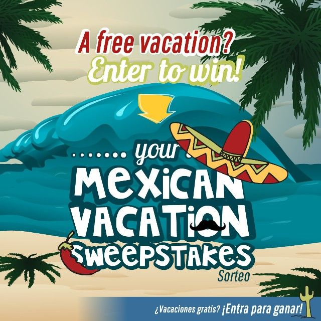 Isn't it about time you took a vacation? Enter Hacienda Tres Rios' Your Mexican Vacation Sweepstakes! #MexMonday