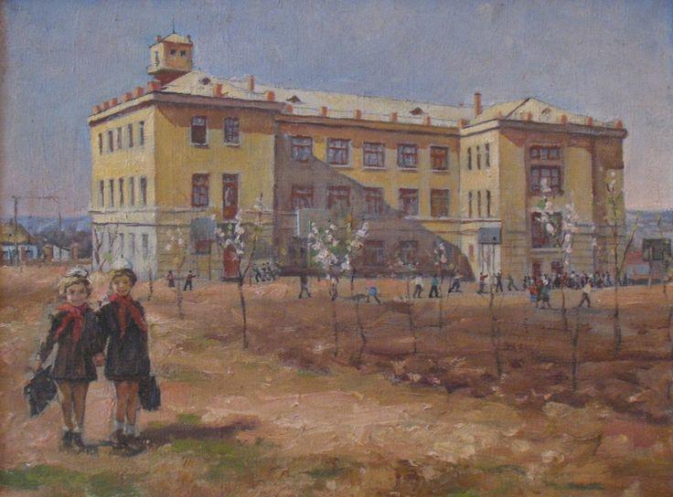 Винтенко Борис Михайлович (1927-2002) «Из школы» 1950-е
