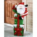Outdoor Christmas Decoration – Touch Of Class Santa Bearing Gifts Indoor Outdoor Lighted Sculpture