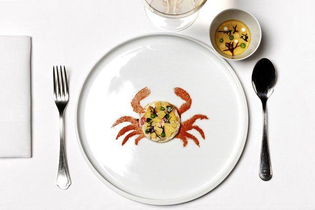 Osteria Francescana, Moeche and Polenta in two versions: Custard ...