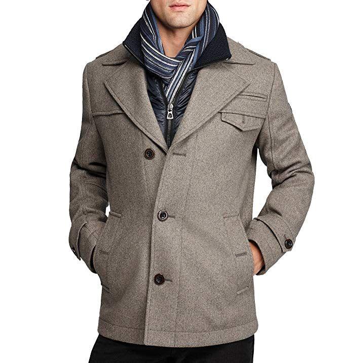 Affiliate Hugo Boss Boss Orange By Men S Ofanta Wool Jacket Pea Coat Grey 42 Mens Winter Coat Wool Winter Coat Wool Jacket