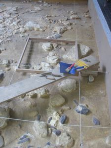élément de visite - Fouille archéologique -   Musée de la Préhistoire à Nemours (77)