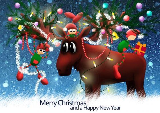 Christmas Moose (© Marloes Boer ~ www.marloesboer.nl)