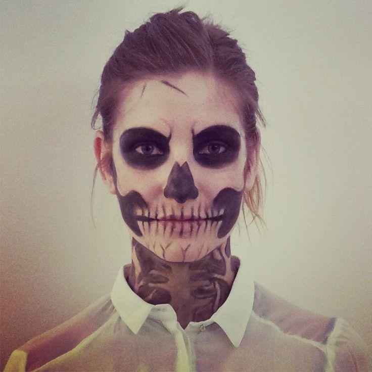 #Halloween#Makeup#scull#Skelett