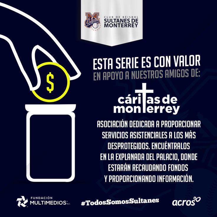 ¡Hoy! En el Palacio Sultán estarán presentes nuestros amigos de Cáritas de Monterrey, ABP Organización dedicada a proporcionar servicios asistenciales a los más desprotegidos. Búscalos en la explanada del Palacio. #TodosSomosSultanes