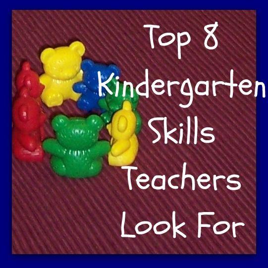 Top 8 Kindergarten Skills Teachers Look For - Great for summer learning ideas!