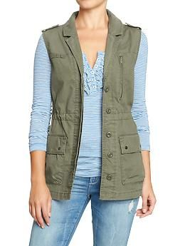 the military vest i've been searching for to layer over dresses! $29.94