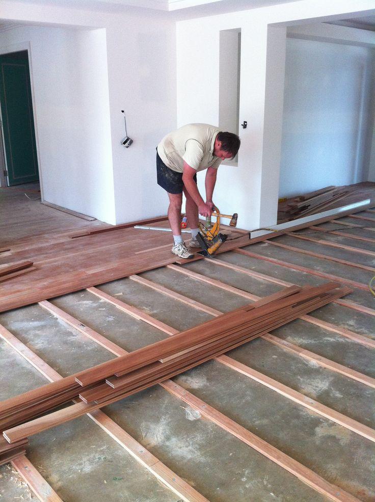 Hardwood flooring on Slab | Construction Techniques | Pinterest