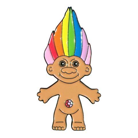 Rainbow Troll Pin by Jade Boylan