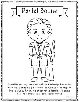 11 best literature lessons images on pinterest book for Daniel boone coloring pages