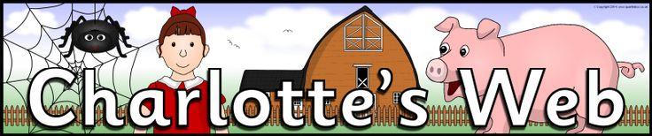Charlotte's Web display banner (SB11045) - SparkleBox