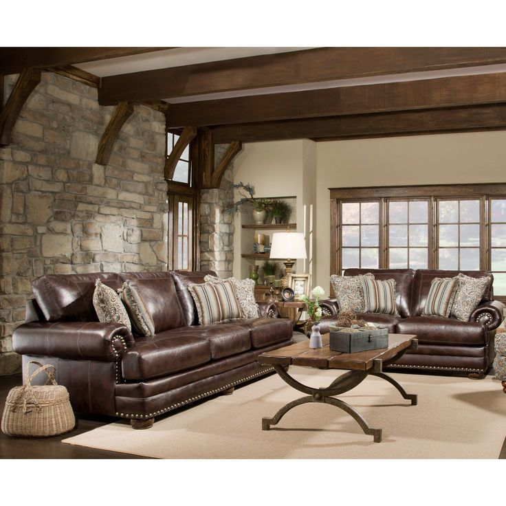 Sofa Trendz McKayla Brown Leather Air Sofa And Loveseat (Set Of 2) (