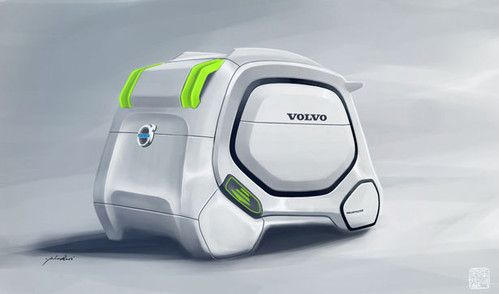 Futuristic Car, Smart Truck Rental System in 2030 by Yuhan Zhang. Future Vehicle
