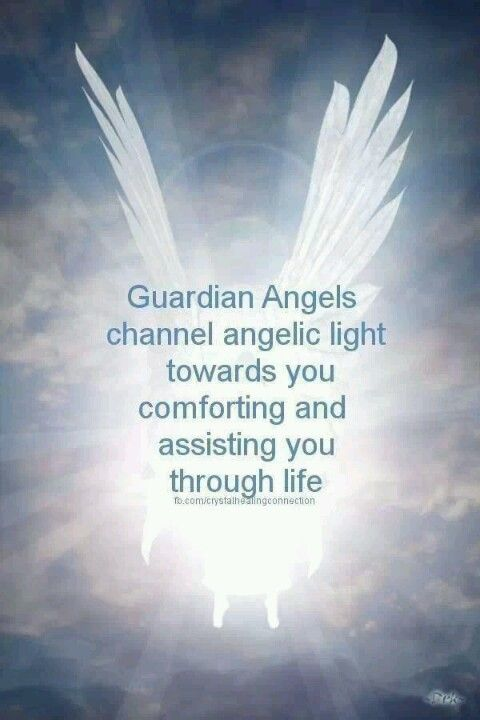 Guardian Angels - we are born with them from beginning to end of this life.  Some have 1 guardian angel, some have 3...
