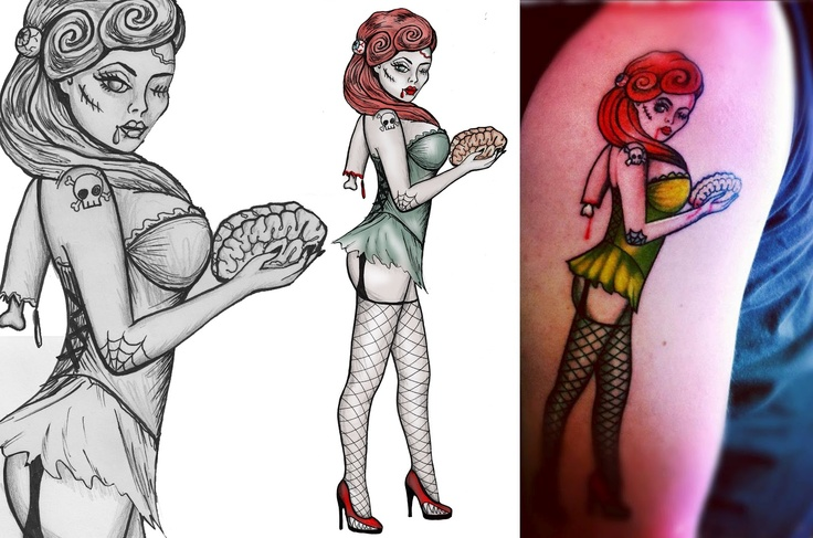 133 best images about zombie pinup tattoo on pinterest zombie tattoos pin up girls and zombie. Black Bedroom Furniture Sets. Home Design Ideas