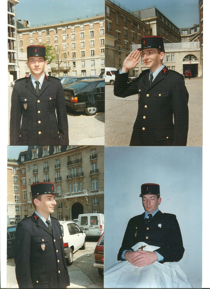 A Young fireman conscript before and after his death