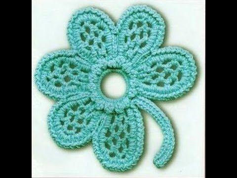 Вязание крючком ЦВЕТКА - урок вязания для начинающих - Crochet lessons for beginners - YouTube