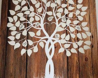 Gastenboek boom Guest boek wieden boom Wood Tree door fancyprints