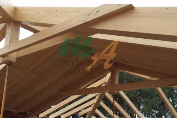 17 mejores ideas sobre estructuras de madera en pinterest for Tejados de madera vista