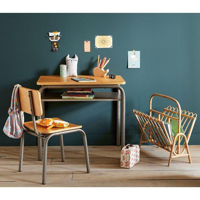 Bureau et chaise d'écolier vintage Buton La Redoute Interieurs