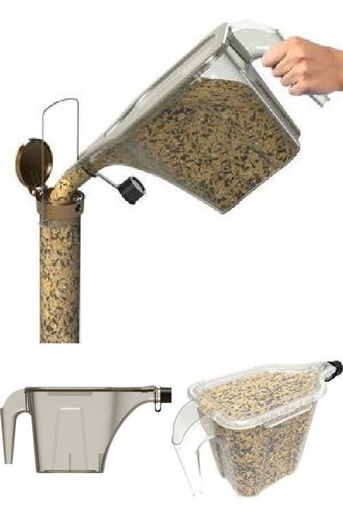Seed Scoop 5lbs Hanging Platform Tube Filler Wild Bird Feeder With Free Shipping #MoreBirds