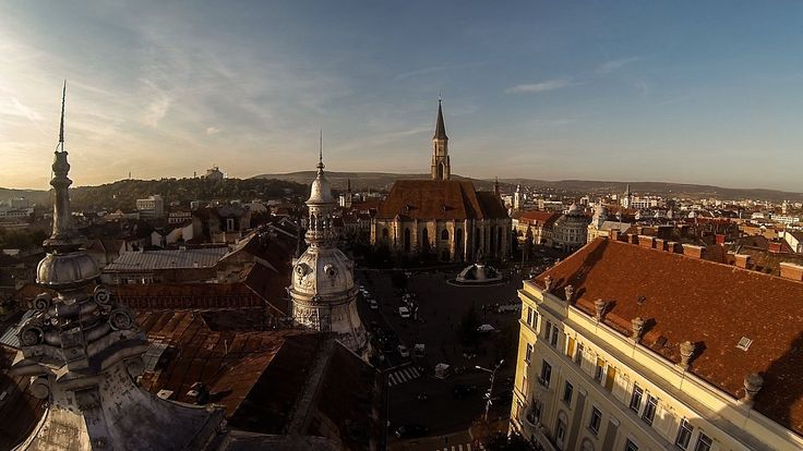 Aerial view of Cluj-Napoca