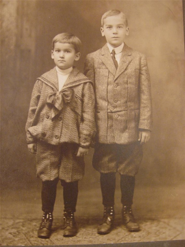 Vintage photo of two boys