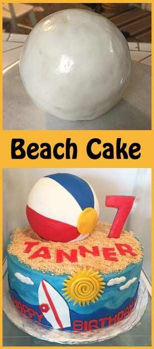 How to make a beach ball cake!