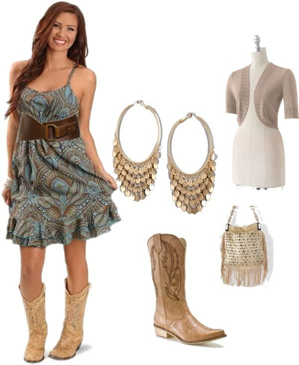 """Western Style Dress Set"" by larsmagen on Polyvore"