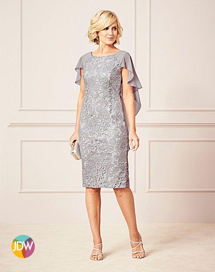 6f6f883f26ce Nightingales Sequin Lace Cape Dress