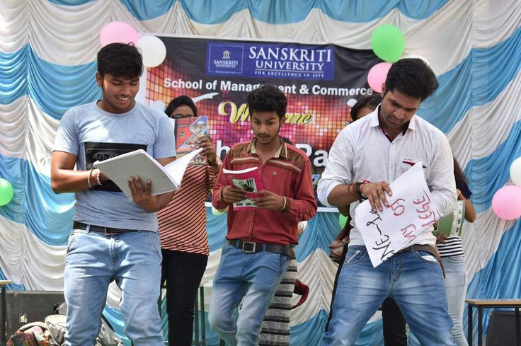 #Fresher Party of Students of #Management & #Commerce @ Sanskriti University #SanskritiUniverstiy #FresherParty2017
