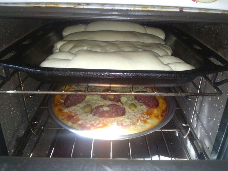 Pan casero y pizza
