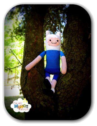 """Patrón de Finn, el humano. El protagonista de la serie de dibujos animados  """"Hora de Aventuras"""" Entra en conmismanosmaniosas.blogspot.com y encontraras este y más patrones."""