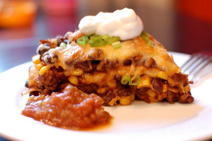 tortilla pie | A Small Snippet | Beef / Pork / Lamb | Pinterest
