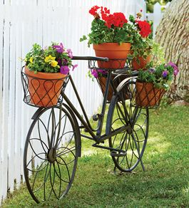 Bicycle Plant Stand - Acacia