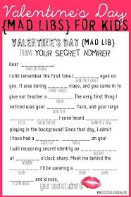 Valentine Mad Libs