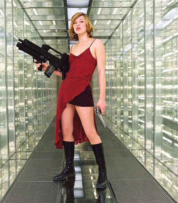 Resident evil 1 red dress navy