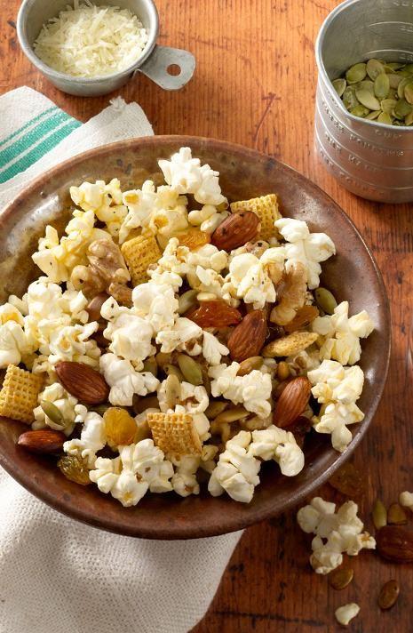 Basil & Garlic Popcorn Trail Mix