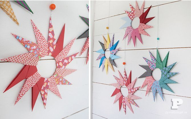 oragami star ornaments (there is an english translation, just scroll to the bottom)