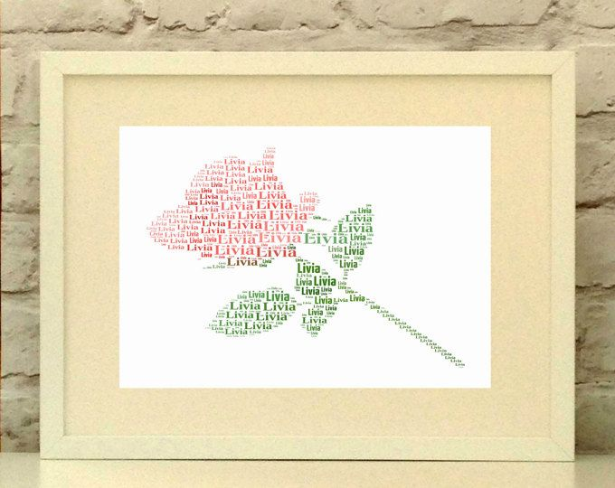 Rose Personalised Print, Mothers Day, Custom, Print, Wall Art, Typographic, rose art, rose illustration, rose art, flower picture