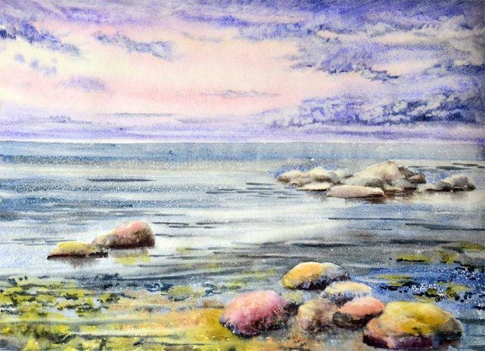 Спокойное море.Аква (700x506, 302Kb)