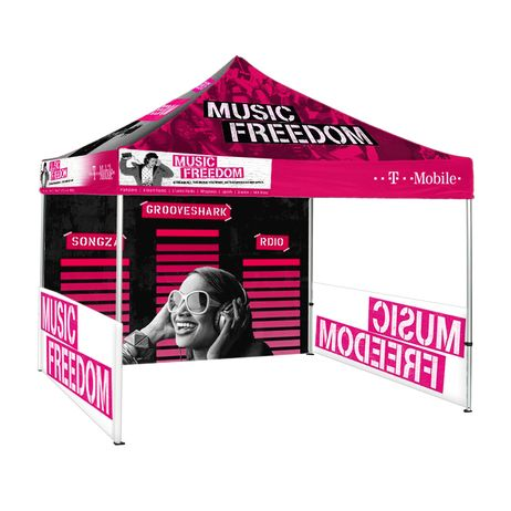 Full color custom tent means full control over your branding and marketing. Our Fantastic Displays trade show 10x10 canopy tent is perfect for outdoor events and exhibits. Great for both indoor or outdoor events such as trade shows, festivals, fairs and more! These tents are durable and affordable. They are extremely easy to set-up and take down, giving you more time to focus on other aspects of your event.