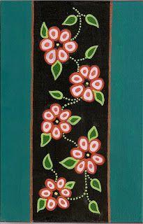 Ojibwe Floral Designs | ojibwe floral beadwork